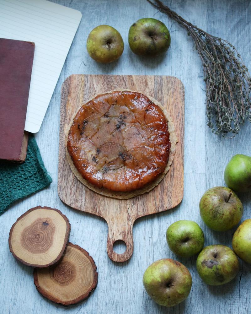 Recette de tarte tatin au thym | L'échoppe Végétale
