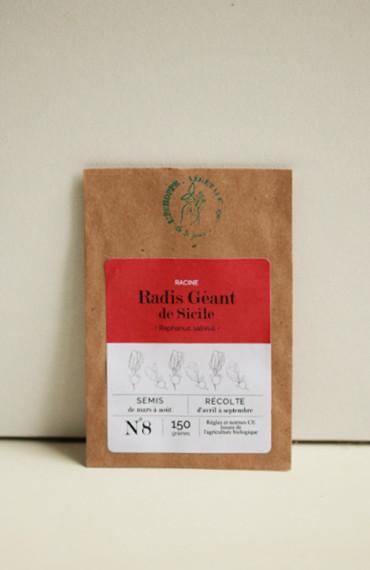 Premières pousses : box jardinage bio pour enfant : semences bios et reproductibles radis de sicile