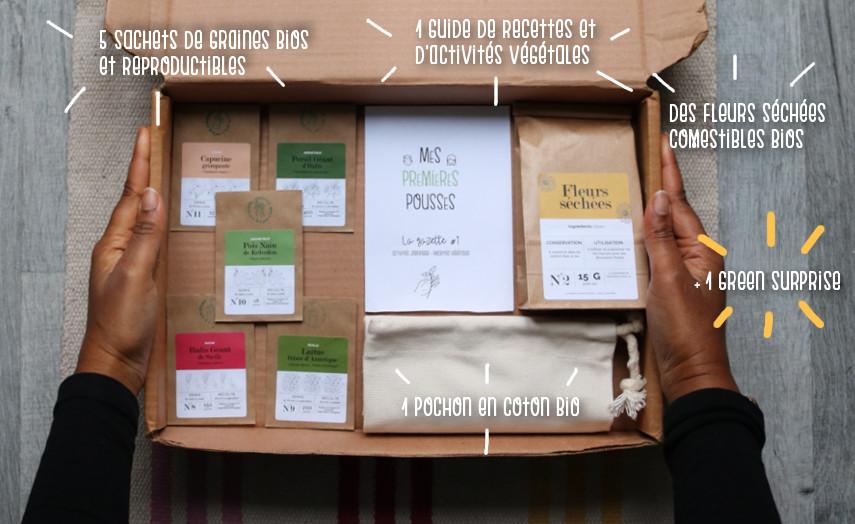 Premières pousses : box jardinage bio pour enfant - l'échoppe végétale