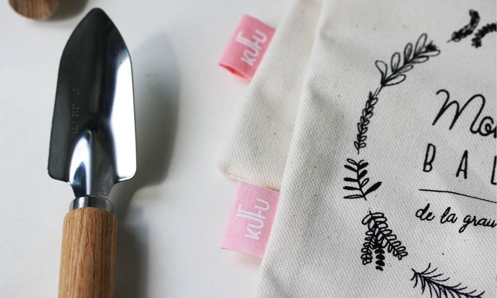 pochon à vrac en coton bio GOTS made in france fabriqué à Lyon