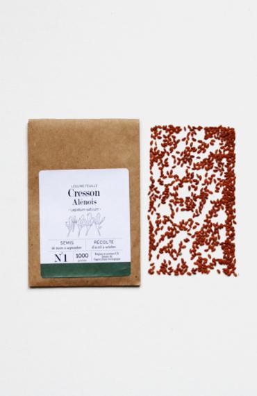graines de cresson alénois bios à cultiver au balcon potager