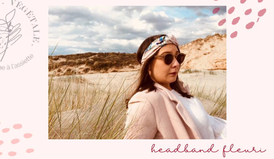 """headband fleuri MADE in France à Lille par Enais dans la box jardinage bio """"Au pays de Mère Nature"""""""