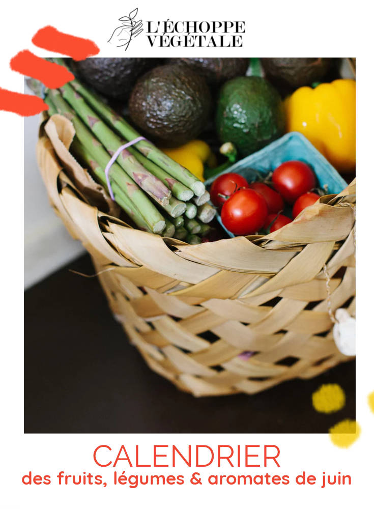 calendrier illustré des fruits, légumes et aromatiques de juin