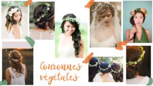 Inspirations de couronnes de fleurs, coiffures fleuries pour mariage ou événement