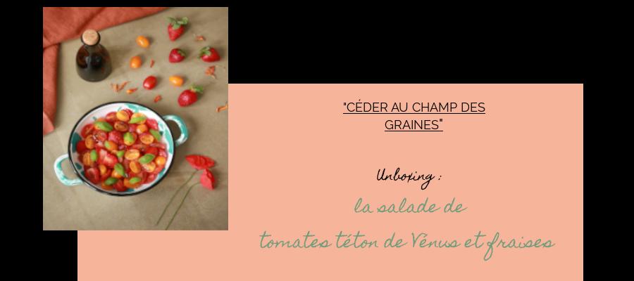Unboxing salade de fruits : tomates et fraises